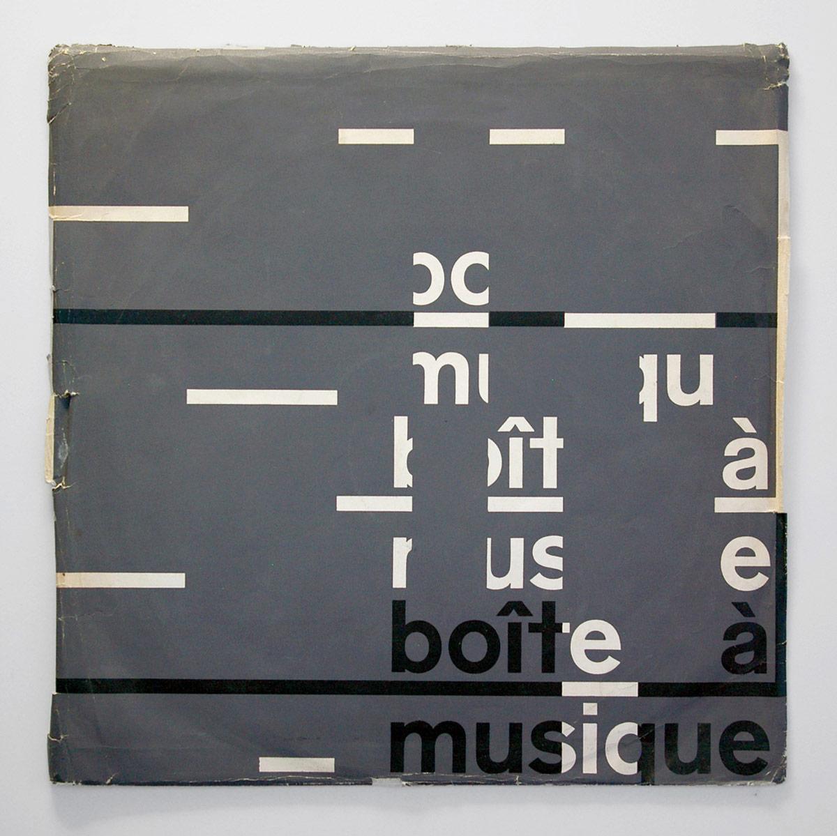 couverture de disque - boîte à musique
