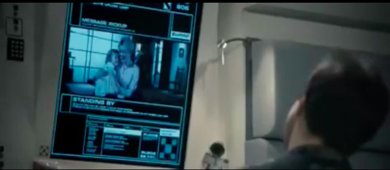 Interface d'un vidéophone dans le film Moon