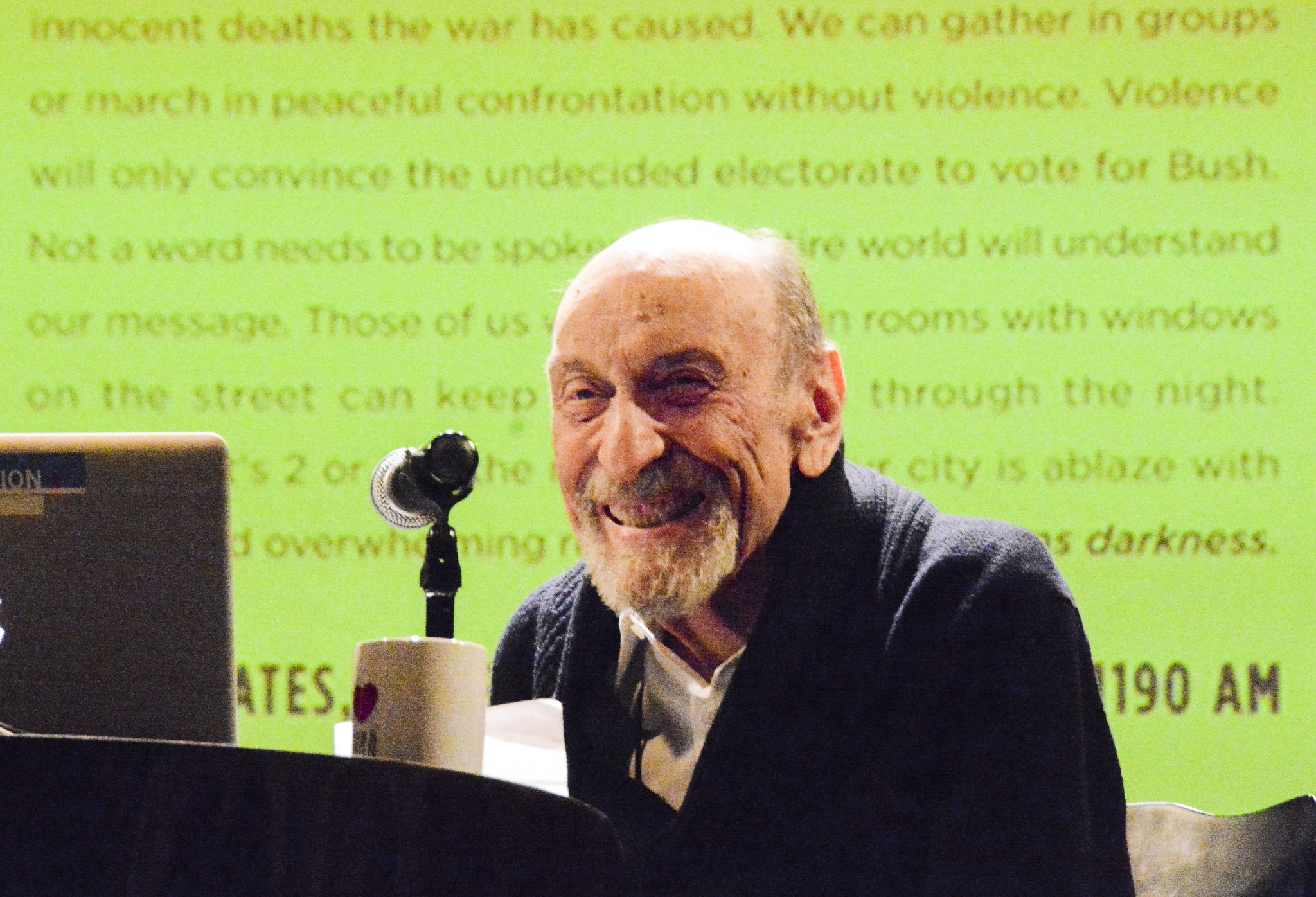 "Milton Glaser Discusses ""The Design of Dissent"" in conversation with designer Steven Heller. The Cooper Union for the Advancement of Science and Art November 13, 2017"